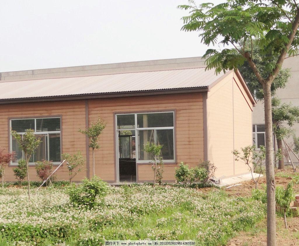 小木屋 木屋 苗木 花卉 园林建筑 建筑园林 摄影 72dpi jpg