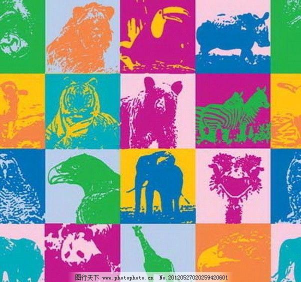 装饰 矢量 填充 卡通 图形 印花 儿童 背景 动物 图案 花纹 纹理 肌理