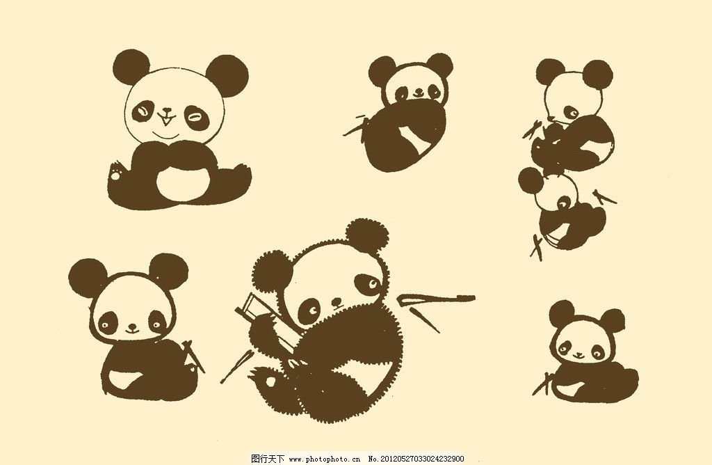 动物装饰画 图案 动物插画 插图 版画 简笔画 风光 儿童画 线条