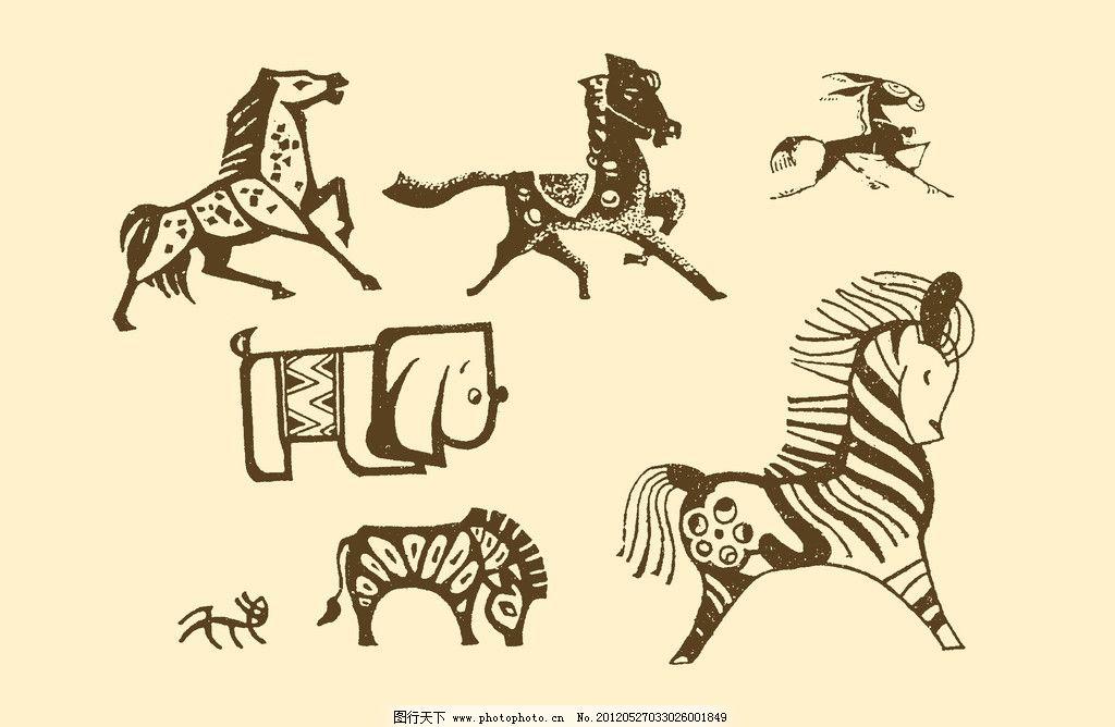 动物装饰画 图案 动物插画 插图 版画 简笔画 风光 装饰画 儿童画