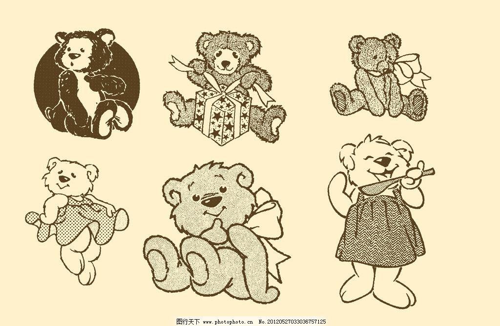 动物插画 插图 版画 简笔画 风光 装饰画 儿童画 线条 手绘 幼儿 熊