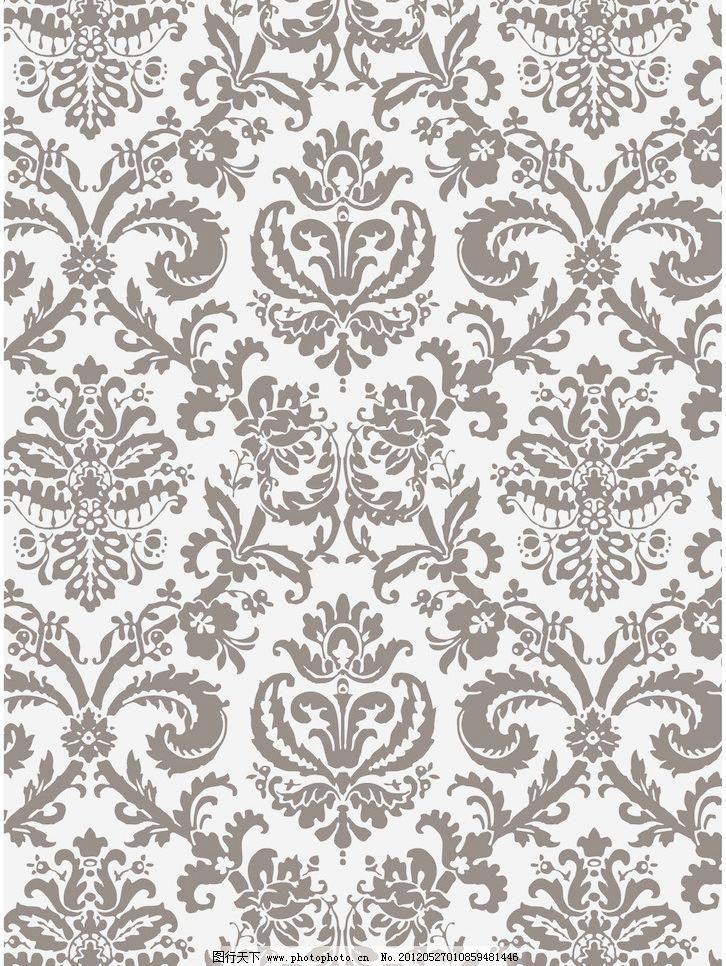 精美花纹 连续图案 欧式 墙纸 设计素材 经典欧式流行底纹矢量素材图片