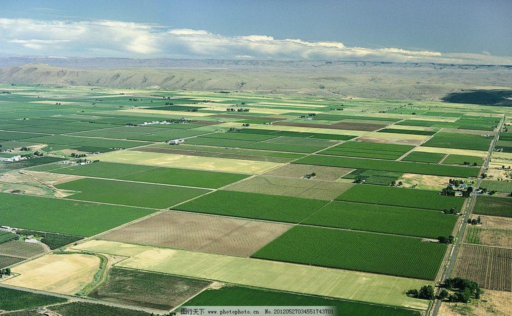 农田 庄家 平原 俯拍 田园风光 自然景观 摄影 150dpi jpg
