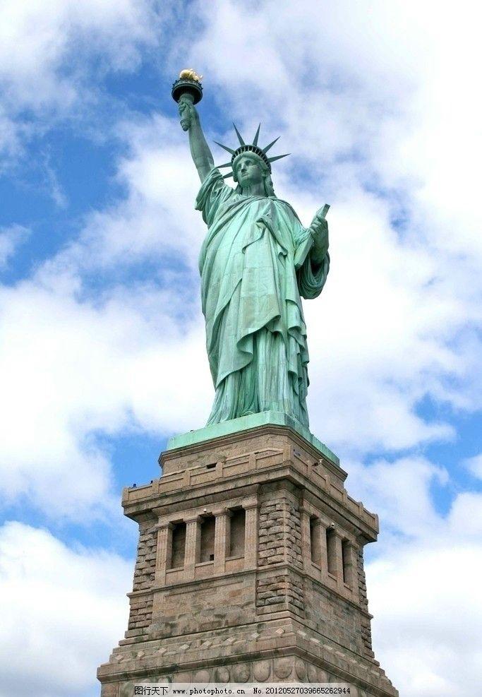 纪念碑 象征 标志建筑 世界遗产名录 纽约 自由岛 高矗 矗立 建筑园林