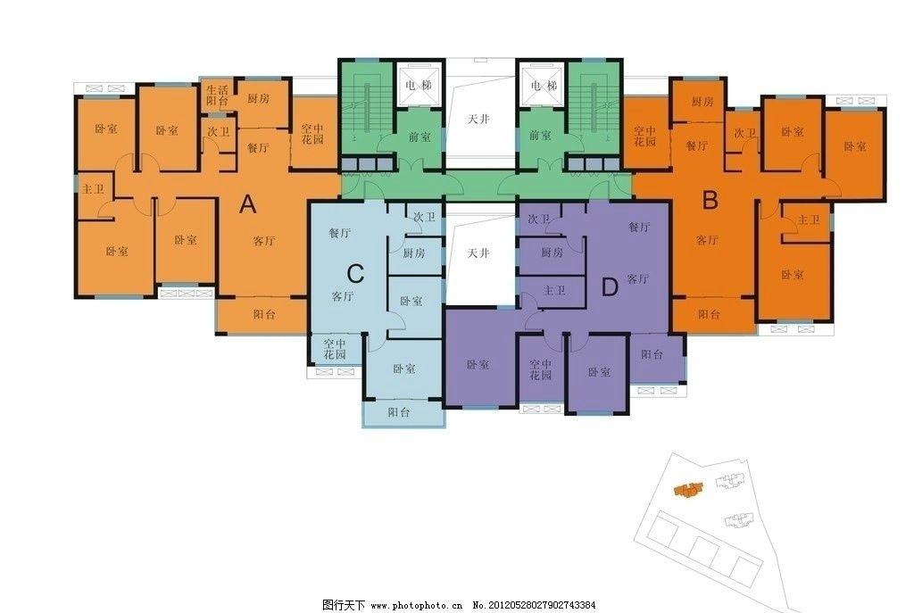住宅户型分布图 住宅 设计 户型 分布 素材 室内设计 建筑家居 矢量