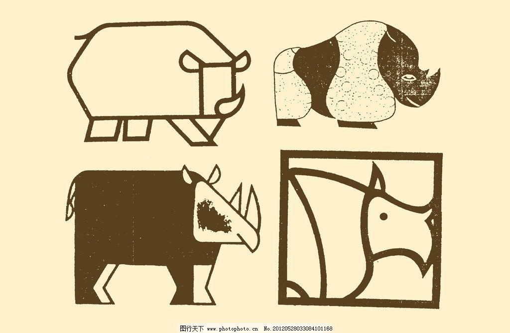 动物装饰画图片_其他_psd分层