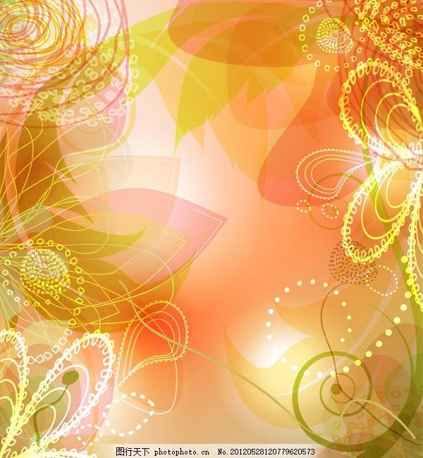 璀璨花瓣纹样花边 eps 橙色 eps