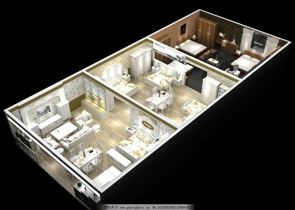 韩式家具展厅设计图图片