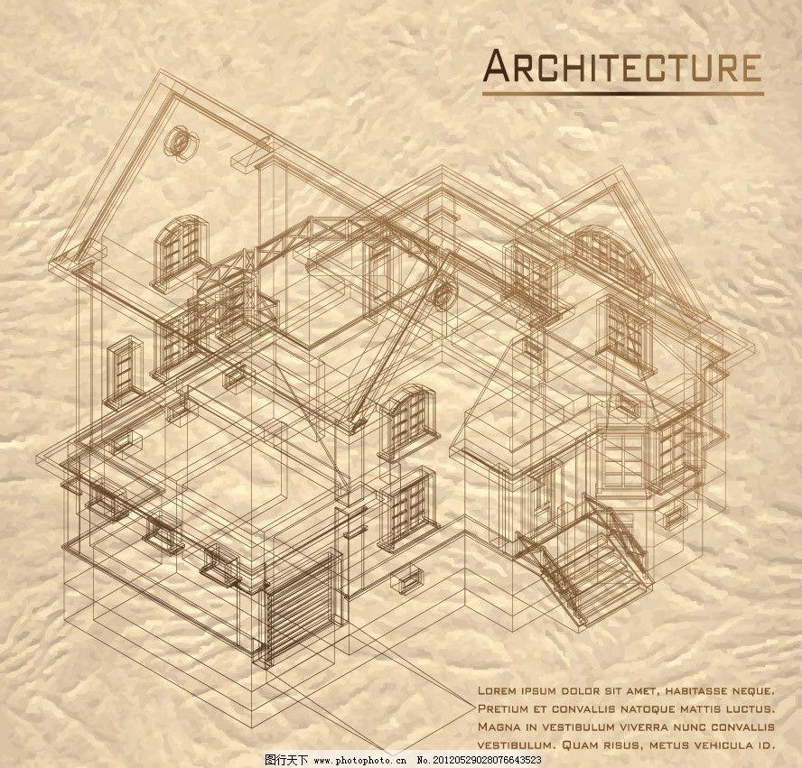 欧式建筑别墅设计图图片