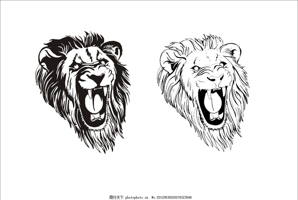 狮子 狮子头 小图标 矢量图 纹身 标识标志图标图片