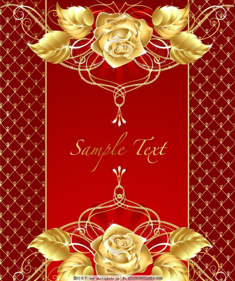 金色欧式花纹花朵 玫瑰图片