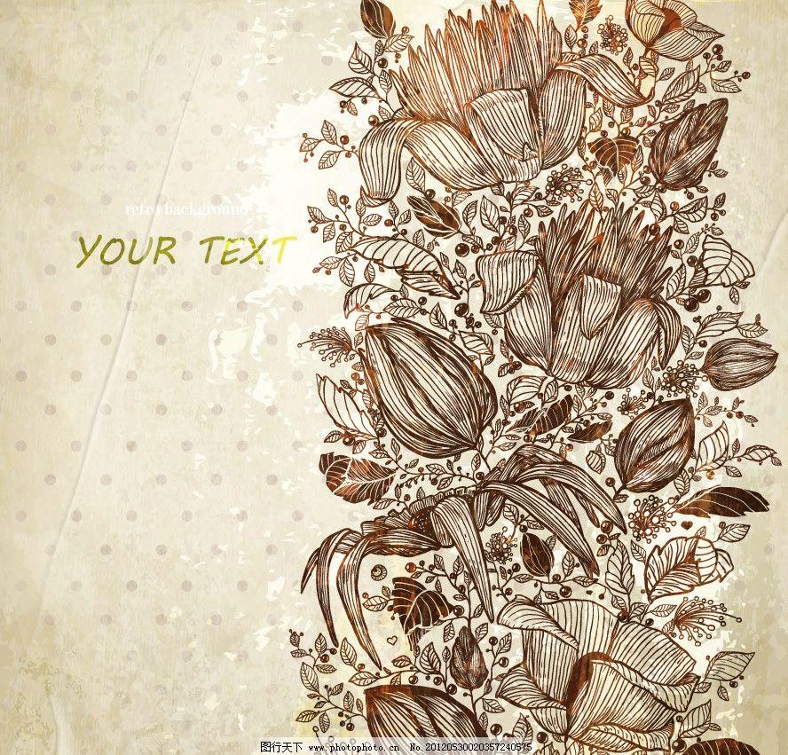 玫瑰欧式花纹 古典花纹花朵图片