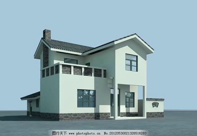 建筑效果图 建筑工程 古建筑 农村别墅室外模型 室外模型 3d设计模型