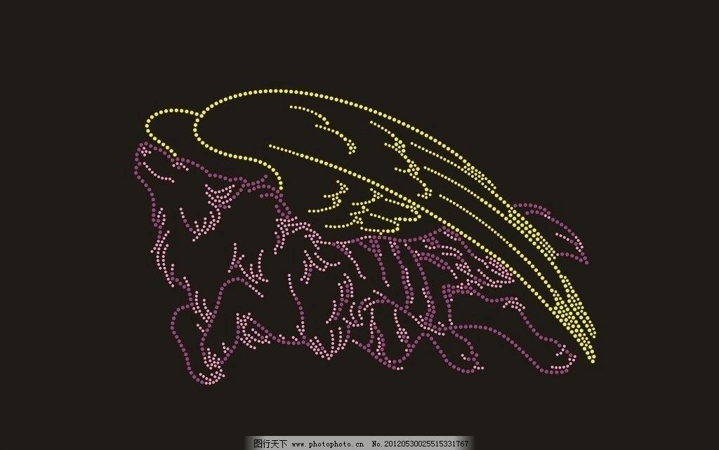 烫图狼 狼 烫图 烫钻 服饰装饰品 圈圈 生活用品 生活百科 矢量 cdr图片