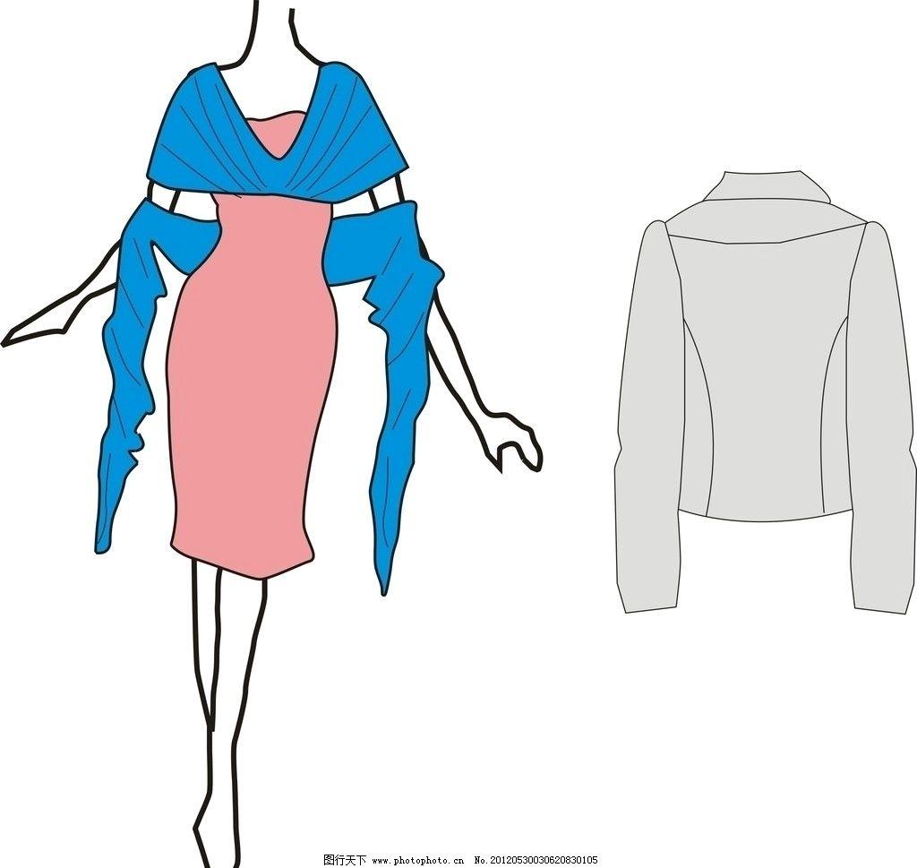 服装 时装 衣服 裙子 上衣 cdr 矢量 服装设计 广告设计图片