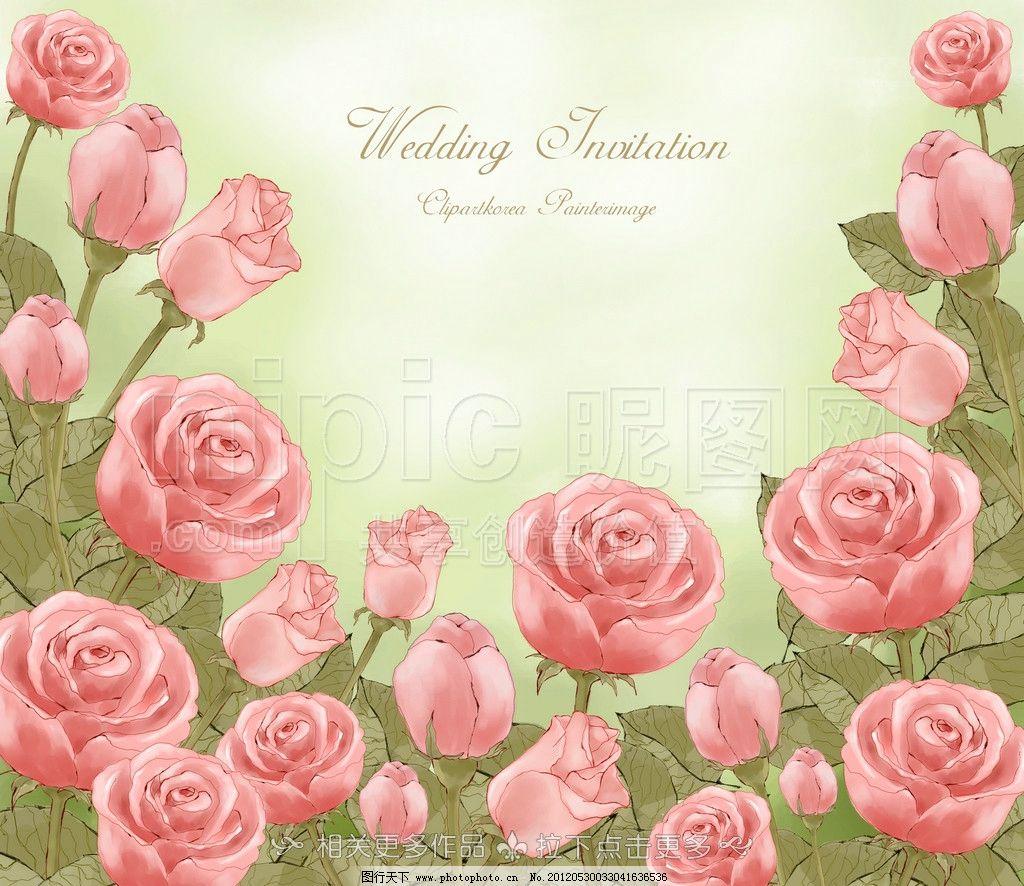玫瑰花 玫瑰 玫瑰花插画 手绘玫瑰花 手绘卡通花卉 psd分层素材 源