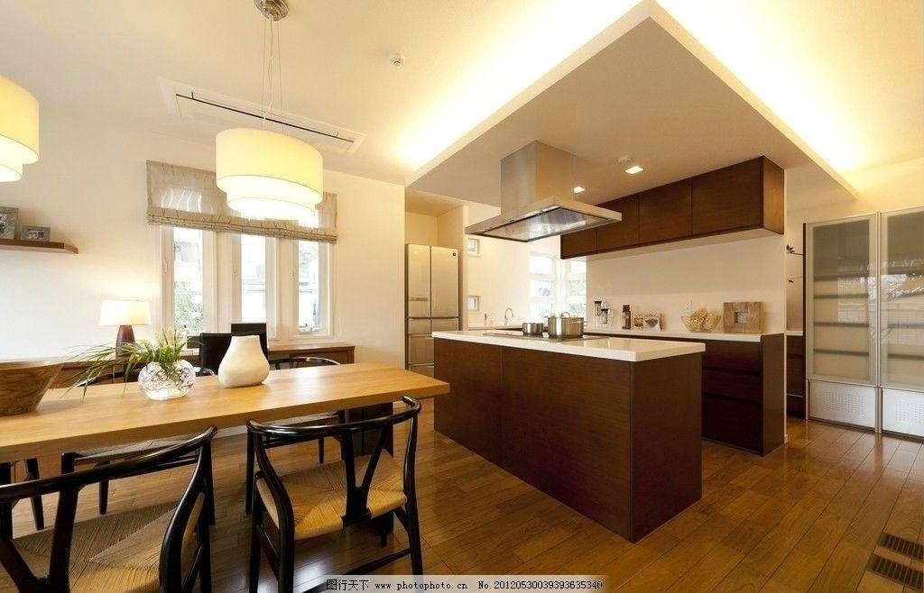 现代厨房样板设计摄影照片 餐厅 样板房 装潢 装修 实景 欧式