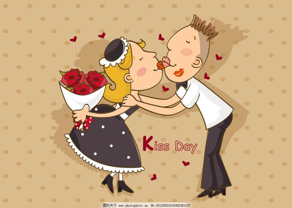 爱情 卡通 情侣 玫瑰 动漫人物 动漫动画 设计 72dpi jpg