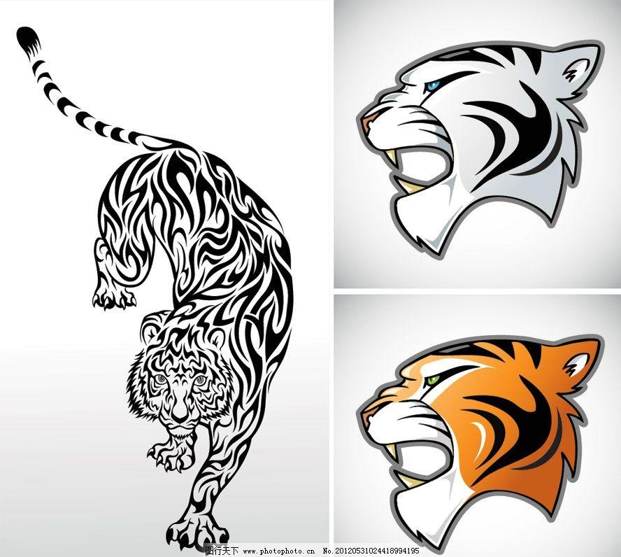 手绘老虎 手绘 老虎 虎头 野生 矢量 动物主题 野生动物 生物世界 eps