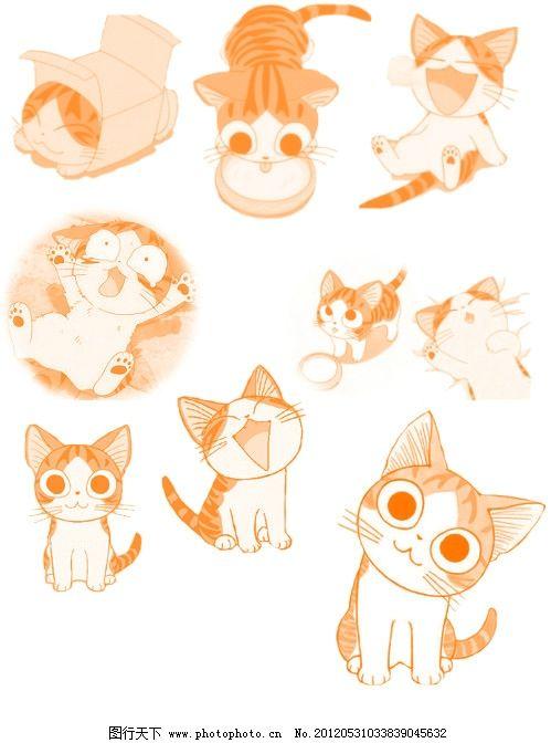 起司猫画笔 漫画画笔 卡通画笔 可爱 可爱的猫 猫的笔刷 可爱的笔刷