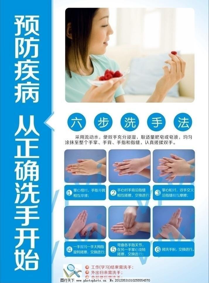 洗手法图片免费下载 cdr 包装设计 广告设计 六步洗手法 预防疾病