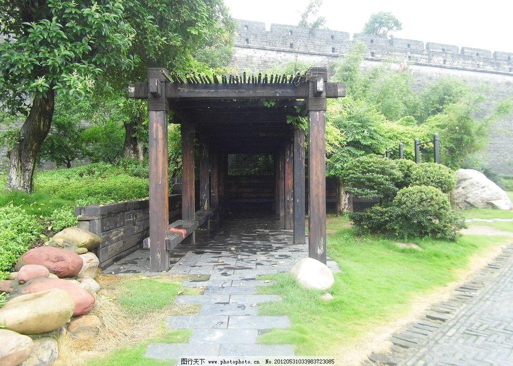 古典走廊 走廊 植物 木头走廊 石头 景区走廊 国内旅游 旅游摄影 摄影