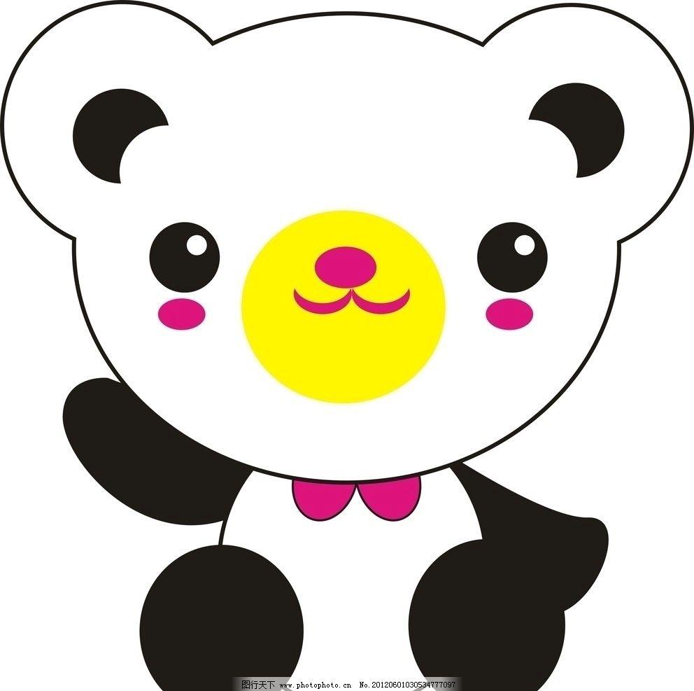 大熊猫 卡通 熊猫 胖乎乎 动物 cdr 矢量 卡通设计 广告设计