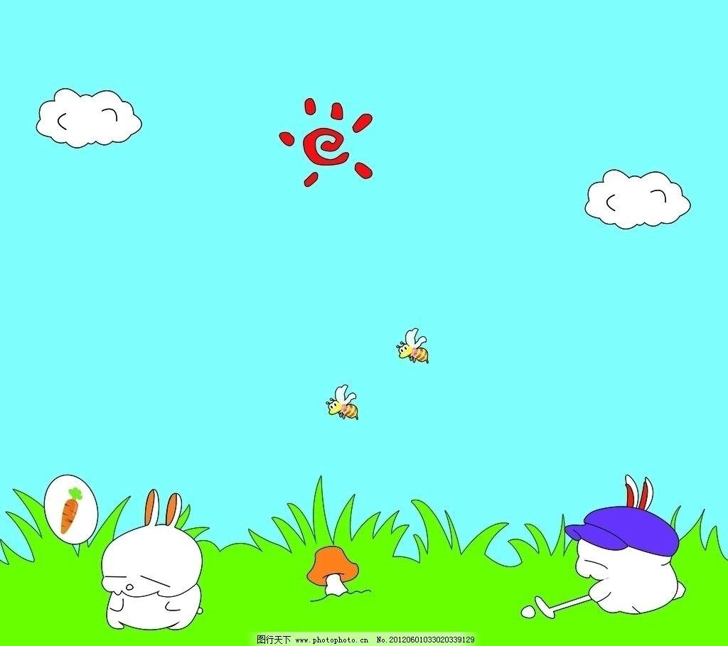 小兔子胡萝卜可爱简笔画