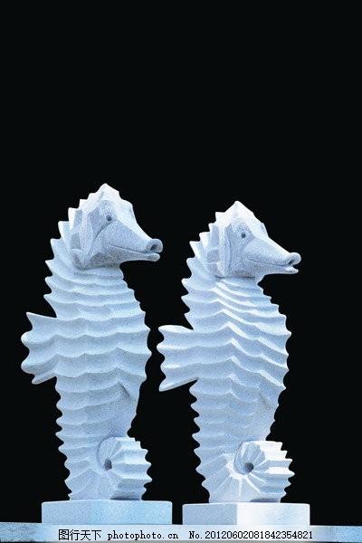 可爱的雕塑 海洋动物雕塑 可爱动物雕塑 psd 黑色