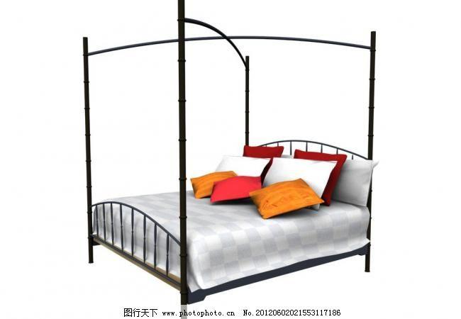 欧式床图片免费下载 3d设计模型