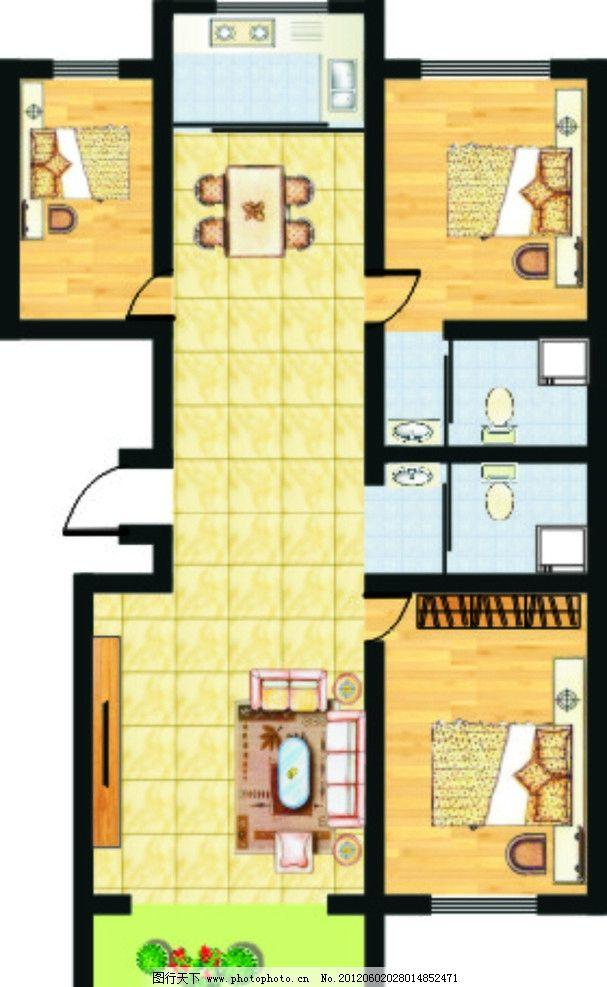户型 楼房 宣传单 卧室 平面图 室内平面图 房屋格局 城市建筑