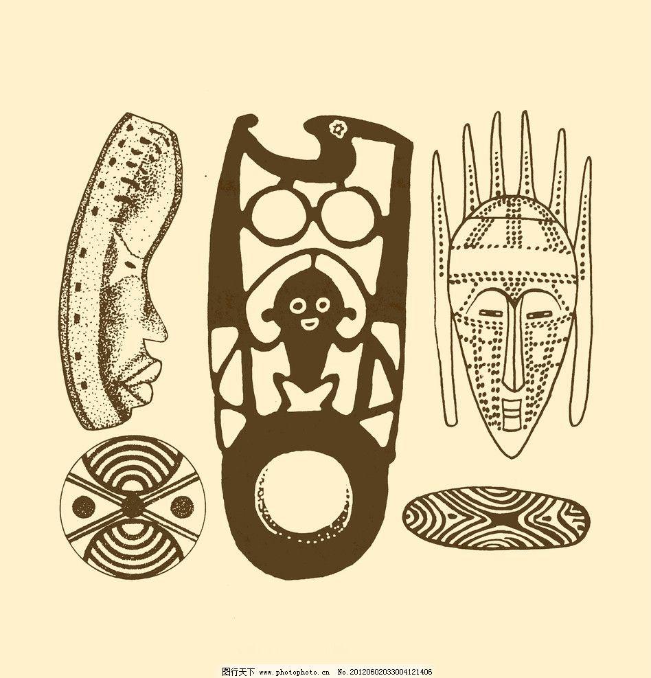 设计图库 psd分层 其他  非洲图案 非洲 图案 纹样 图形 白描 勾勒 简