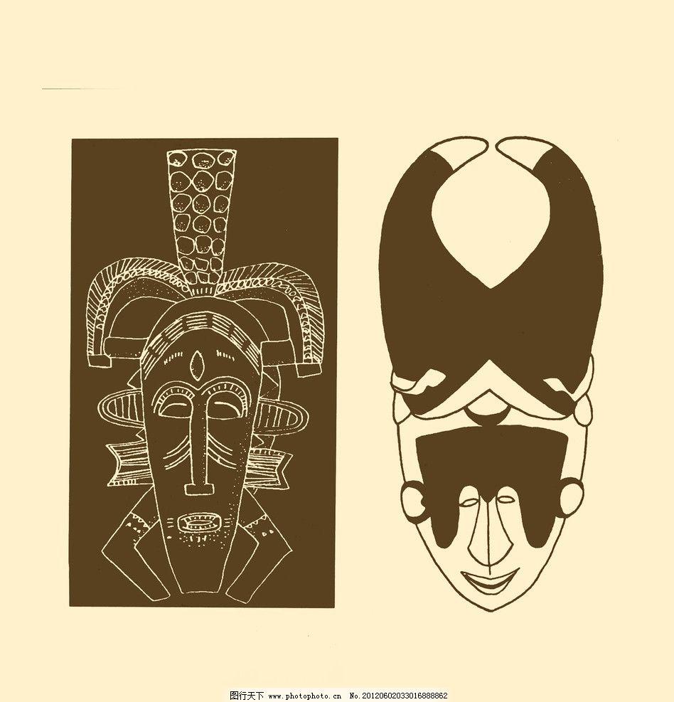 设计图库 现代科技 建材  非洲图案 非洲 图案 纹样 图形 白描 勾勒