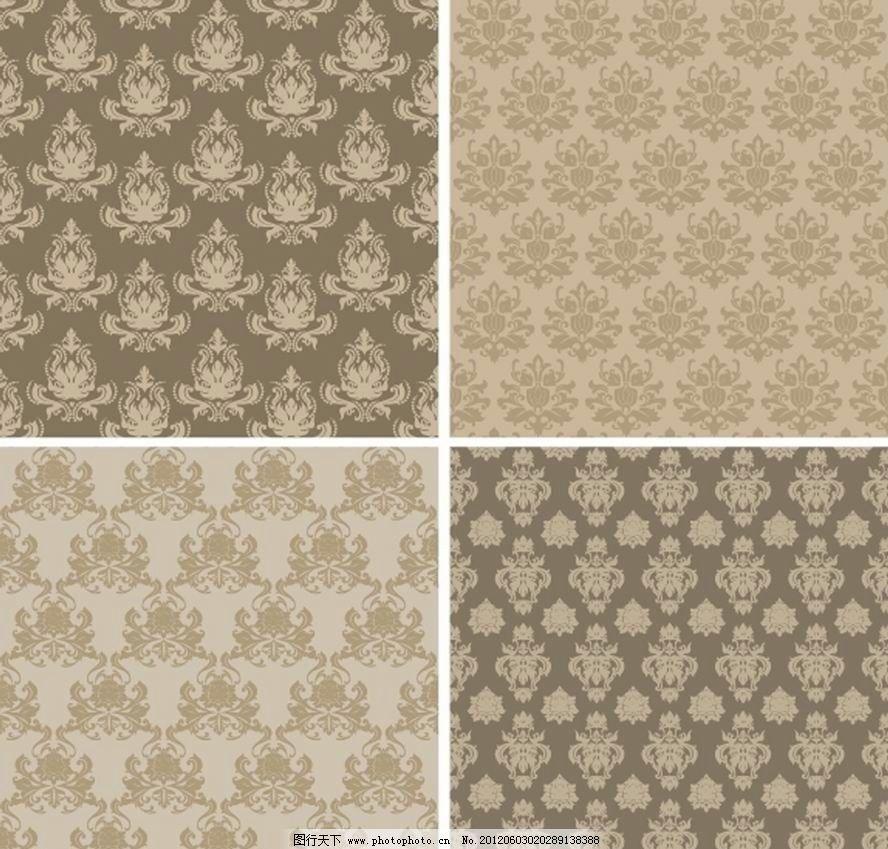 花纹 手绘 对称 欧式花纹 古典花纹 时尚花纹 丝织 布料 面料 地毯 墙