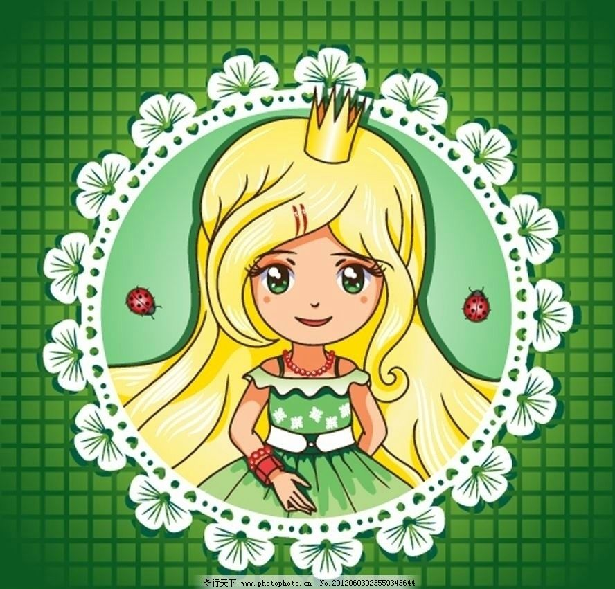 卡通可爱小女孩小公主 卡通 可爱 小女孩 小公主 孩子 儿童 漂亮 美丽