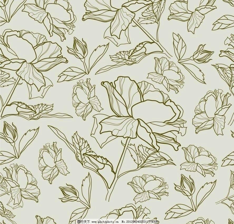 古典梦幻花纹花朵 欧式 古典 花纹 花边 花朵 花卉 鲜花 时尚 潮流