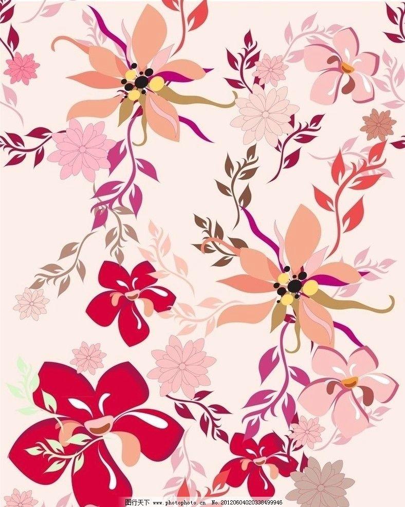 设计图库 底纹边框 花边花纹  古典梦幻花纹花朵 欧式 古典 花纹 花边