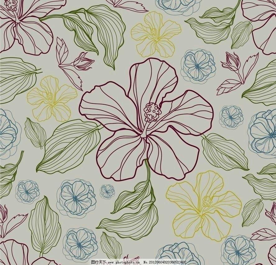 古典梦幻花纹花朵 欧式 花边 花卉 鲜花 时尚 潮流 浪漫 欧式花纹