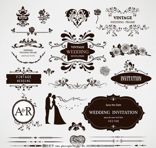 欧式花纹 婚纱婚礼装饰设计图片