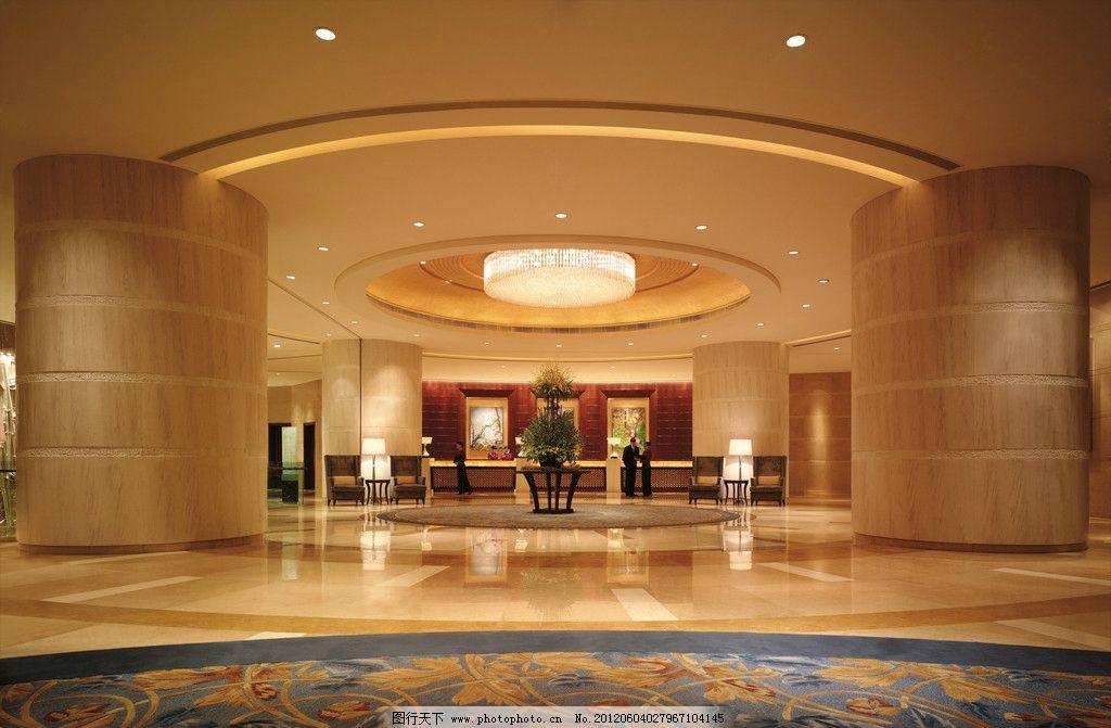 酒店大堂 室内装修效果图 室内效果图 大堂 前台 沙发 室内设计 环境