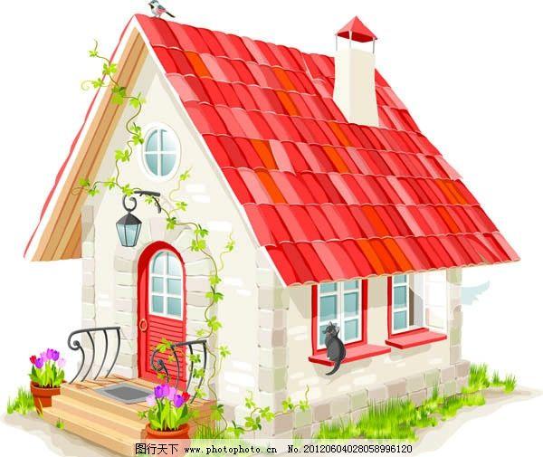 卡通矢量房子图片