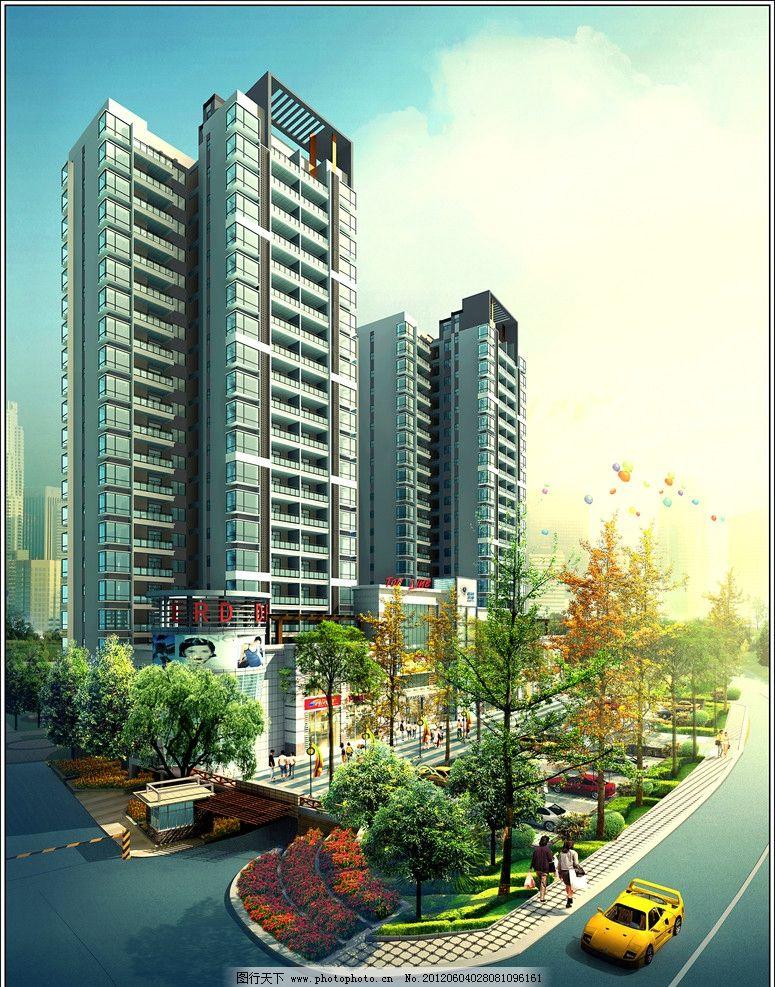 街景建筑室外效果图图片_建筑设计_环境设计_图行天下