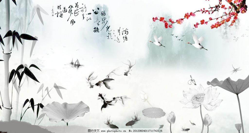 幼儿园大班彩墨画桃花