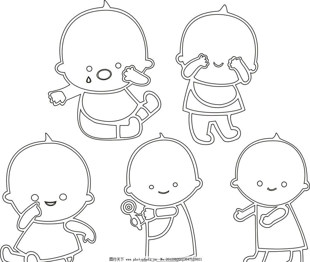 logo矢量图娃娃可爱婴棒棒糖舞蹈线条矢量人物
