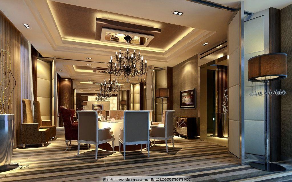 简欧风格酒店包房效果图图片