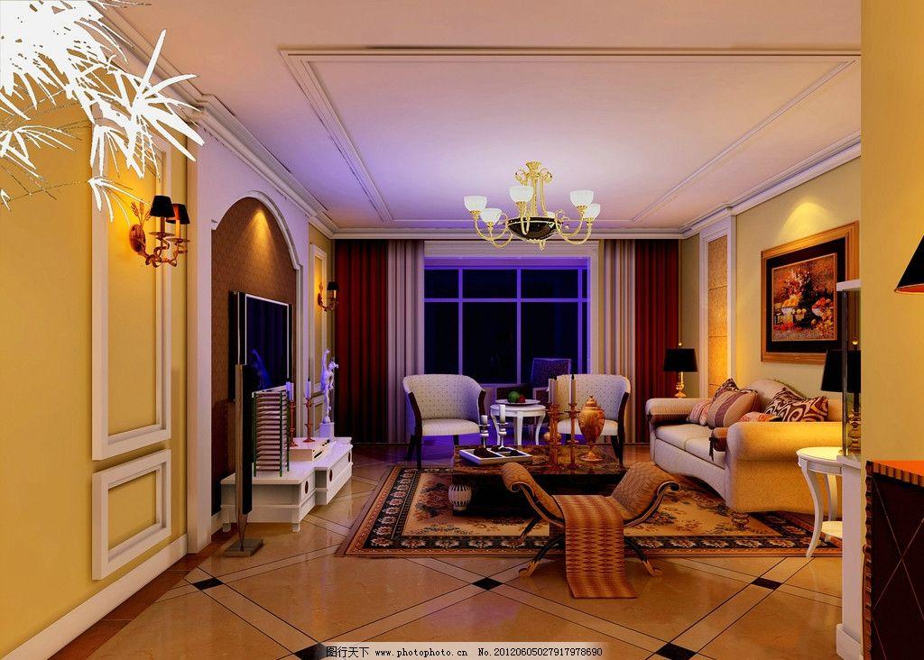 客厅 装修效果图图片_室内设计_环境设计_图行天下图库