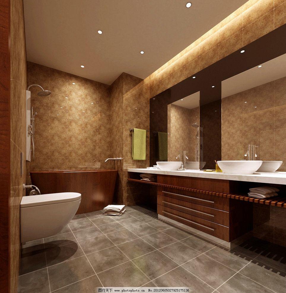 厕所洗脸池欧式装修图
