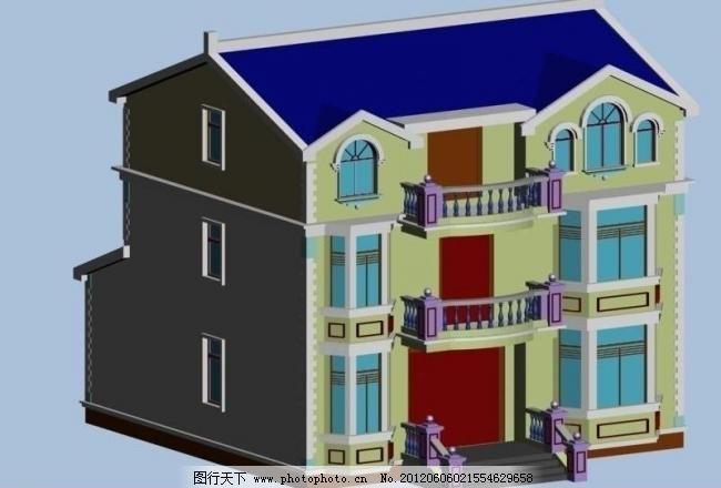 欧式别墅图片,别墅模型 别墅效果图 工装模型 楼房-图