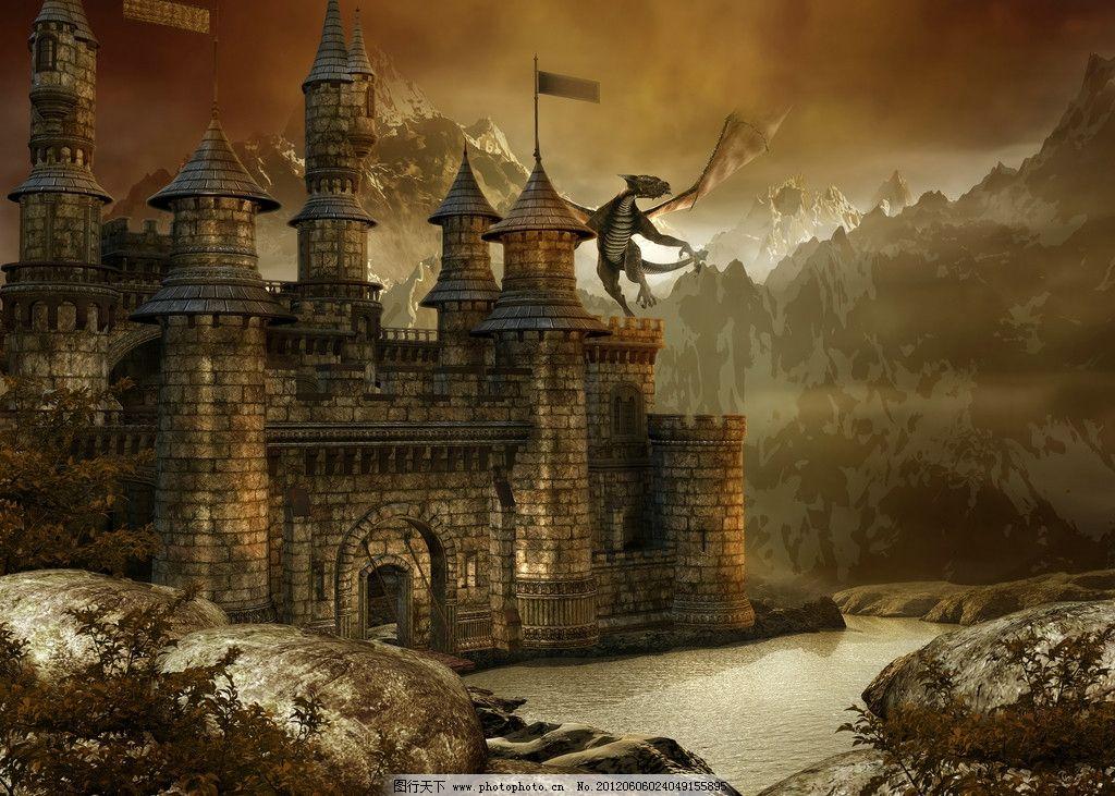 梦幻城堡风景图片