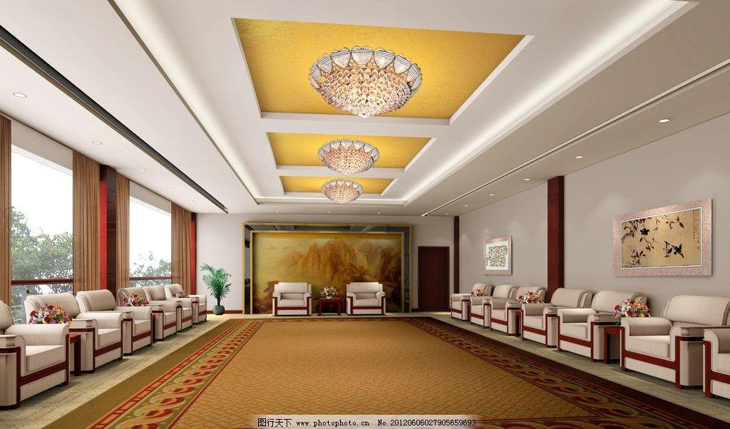 接待室效果圖圖片_室內設計